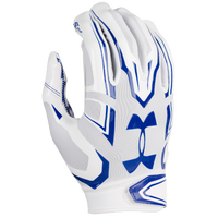 Under Armour F5 Football Gloves - Men's - White / Blue