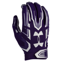 Under Armour F5 Football Gloves - Men's - Purple / White