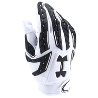 Under Armour Fierce VI Padded Football Gloves - Men's - White / Black