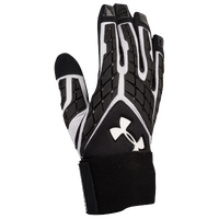 Under Armour Combat V Full Finger Lineman Gloves - Boys' Grade School - Black / White