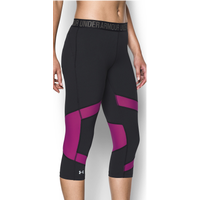 Under Armour HeatGear Coolswitch Compression Capris - Women's - Black / Pink