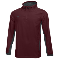 Nike Team Woven 1/4 Zip Jacket - Men's - Maroon / Grey