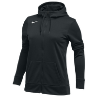 Nike Team Full-Zip Therma Hoodie - Women's - All Black / Black