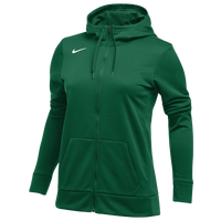 Nike Team Full-Zip Therma Hoodie - Women's - Dark Green / Dark Green