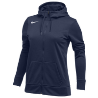 Nike Team Full-Zip Therma Hoodie - Women's - Navy / Navy