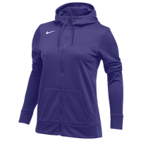 Nike Team Full-Zip Therma Hoodie - Women's - Purple / Purple