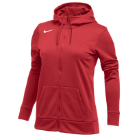 Nike Team Full-Zip Therma Hoodie - Women's - Red / Red