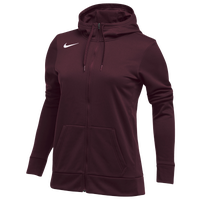 Nike Team Full-Zip Therma Hoodie - Women's - Maroon / Maroon