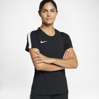 Nike Academy Short Sleeve Top - Women's - All Black / Black