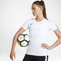 Nike Academy Short Sleeve Top - Women's - White / Black