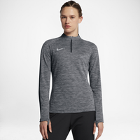 Nike Squad 1/2 Zip Top - Women's - Grey / Black