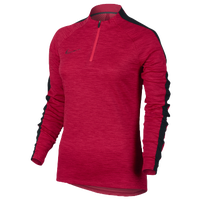 Nike Squad 1/2 Zip Top - Women's - Red / Black