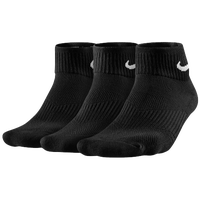 Nike 3 Pack Cotton Cush Quarter w/ Moisture - Women's - Black / White