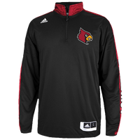 adidas College On Court Shooting Shirt - Men's - Louisville Cardinals - Black / Red