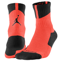 Jordan AJ Dri-Fit High Quarter Socks - Red / Black