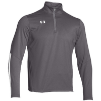 Under Armour Team Qualifier 1/4 Zip - Men's - Grey / White