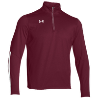 Under Armour Team Qualifier 1/4 Zip - Men's - Maroon / White