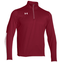 Under Armour Team Qualifier 1/4 Zip - Men's - Red / White