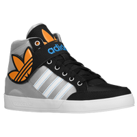 adidas Originals Hard Court Hi Strap - Boys' Grade School - Grey / Light Blue