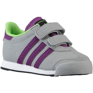 adidas Originals Samoa - Boys' Toddler - Mid Grey/Tribe Purple/Macaw