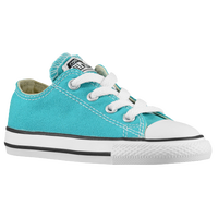 Converse All Star Ox - Girls' Toddler - Light Blue / White