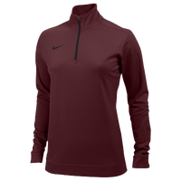 Nike Team Dri-FIT 1/2 Zip - Women's - Maroon / Maroon