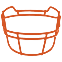 Schutt ROPO-TRAD Vengeance Carbon Steel Facemask - Men's - Orange / Orange