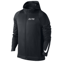 Nike Elite Stripe F/Z Hoodie - Men's - Black / White