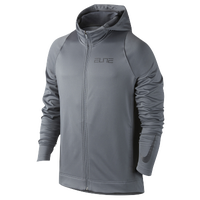 Nike Elite Stripe F/Z Hoodie - Men's - Grey / Grey