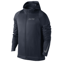 Nike Elite Stripe F/Z Hoodie - Men's - Navy / Grey