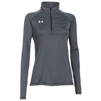 Under Armour Team Tech Stripe 1/4 Zip - Women's - Grey / Grey