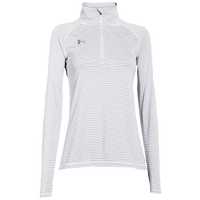 Under Armour Team Tech Stripe 1/4 Zip - Women's - All White / White