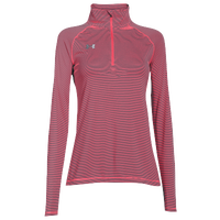 Under Armour Team Tech Stripe 1/4 Zip - Women's - Grey / Pink