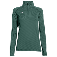 Under Armour Team Tech Stripe 1/4 Zip - Women's - Green / Green