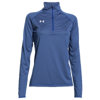 Under Armour Team Tech Stripe 1/4 Zip - Women's - Blue / Blue