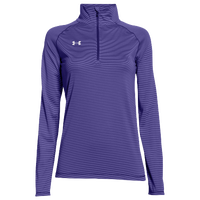 Under Armour Team Tech Stripe 1/4 Zip - Women's - Purple / Purple
