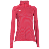 Under Armour Team Tech Stripe 1/4 Zip - Women's - Red / Red