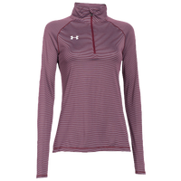 Under Armour Team Tech Stripe 1/4 Zip - Women's - Maroon / Grey