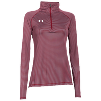 Under Armour Team Tech Stripe 1/4 Zip - Women's - Cardinal / Grey