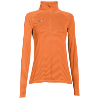 Under Armour Team Tech Stripe 1/4 Zip - Women's - Orange / Orange