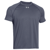Under Armour Team Stripe Tech S/S Locker T-Shirt - Men's - Navy / Grey