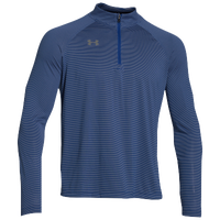 Under Armour Team Tech Stripe 1/4 Zip - Men's - Blue / Grey