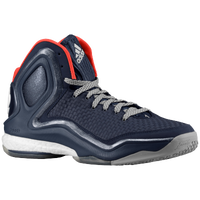 adidas D Rose 5 Boost - Boys' Grade School - Derrick Rose - Navy / White