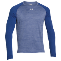 Under Armour Team Novelty Long Sleeve Locker T-Shirt - Men's - Blue / Silver