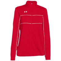 Under Armour Team Rival Knit Warm-Up Jacket - Women's - Red / White