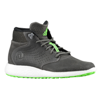 adidas D Rose Lakeshore Mid Boost - Men's - Derrick Rose - Grey / Light Green