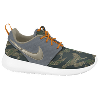 Nike Roshe Run - Boys' Grade School - Grey / Dark Green