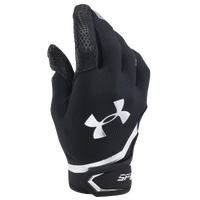Under Armour Spotlight Batting Gloves - Men's - Black / Silver