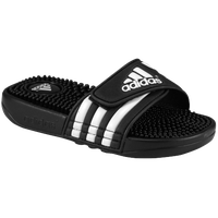 adidas Adissage - Boys' Preschool - Black / White