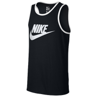 Nike Ace Logo Tank - Men's - Black / White